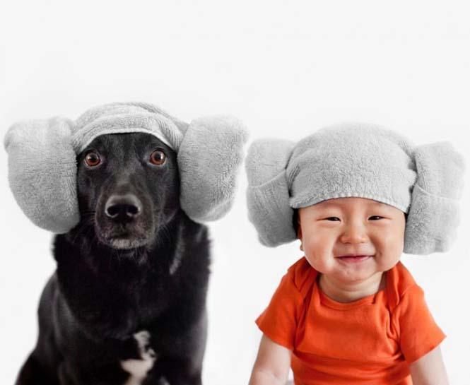 Μωρό ποζάρει με το σκύλο του σε απίθανες φωτογραφίες (1)