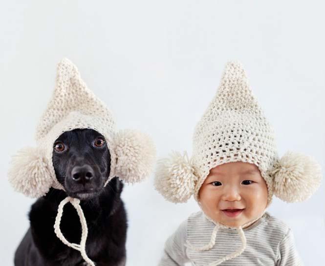Μωρό ποζάρει με το σκύλο του σε απίθανες φωτογραφίες (2)