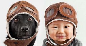 Μωρό ποζάρει με το σκύλο του σε απίθανες φωτογραφίες