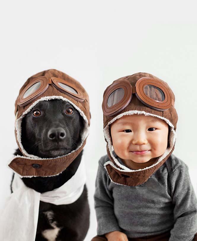 Μωρό ποζάρει με το σκύλο του σε απίθανες φωτογραφίες (3)