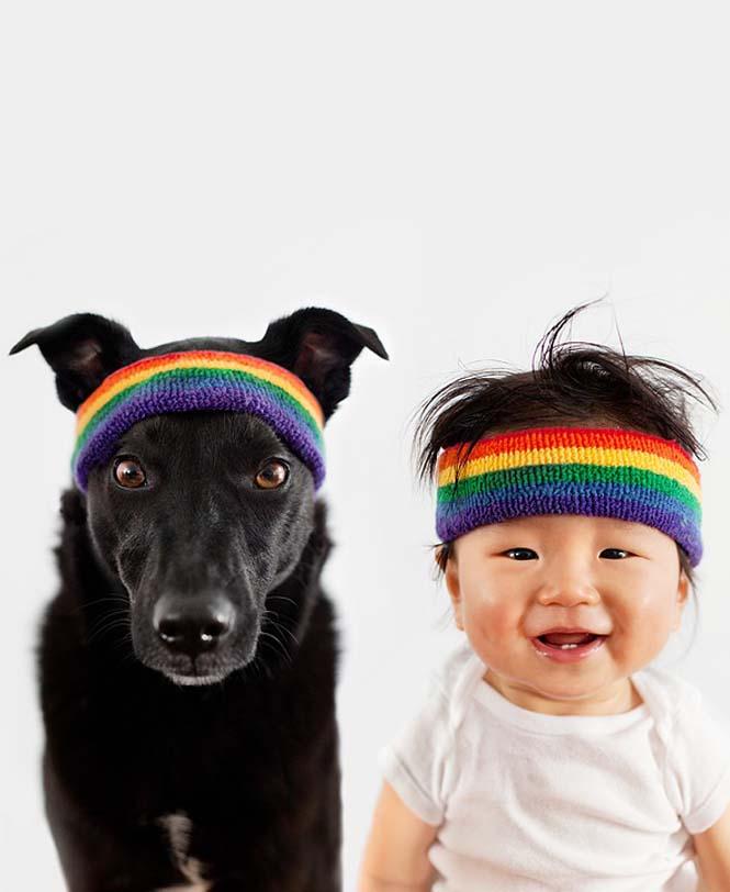Μωρό ποζάρει με το σκύλο του σε απίθανες φωτογραφίες (4)