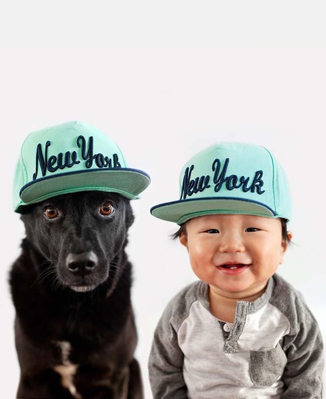Μωρό ποζάρει με το σκύλο του σε απίθανες φωτογραφίες (5)
