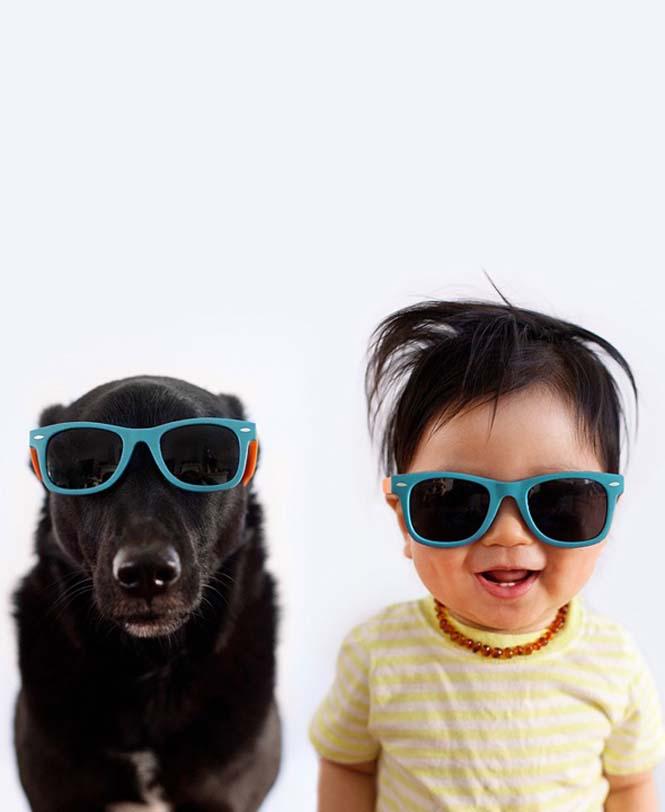 Μωρό ποζάρει με το σκύλο του σε απίθανες φωτογραφίες (7)
