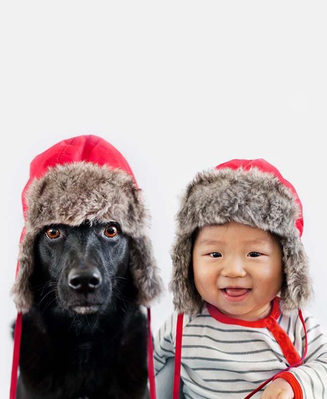 Μωρό ποζάρει με το σκύλο του σε απίθανες φωτογραφίες (8)