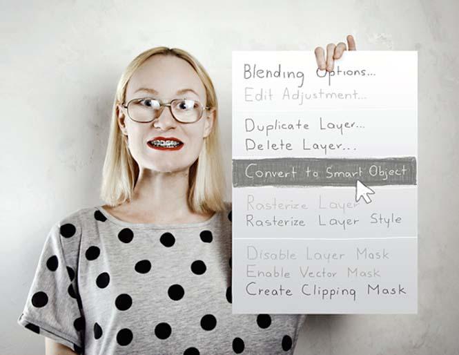 Το Photoshop στην καθημερινή ζωή μιας γυναίκας (4)