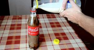 Τι θα συμβεί αν ρίξεις γάλα σε ένα μπουκάλι με Coca Cola (Video)