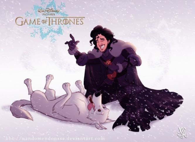 Αν οι χαρακτήρες του Game Of Thrones σχεδιάζονταν από την Disney (4)