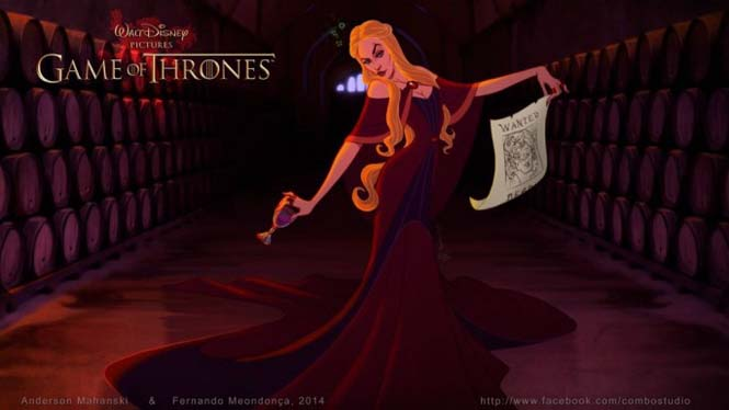 Αν οι χαρακτήρες του Game Of Thrones σχεδιάζονταν από την Disney (5)
