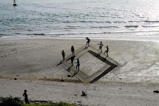 Απίστευτες 3d οφθαλμαπάτες στην άμμο (10)