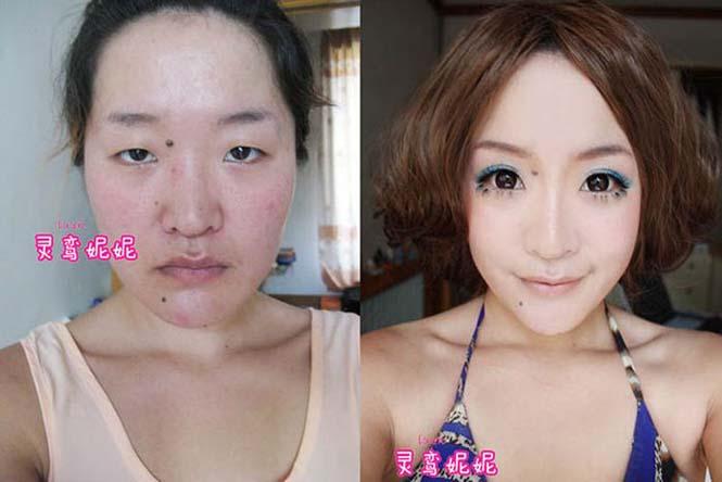 Ασιάτισσες πριν και μετά το μακιγιάζ (1)