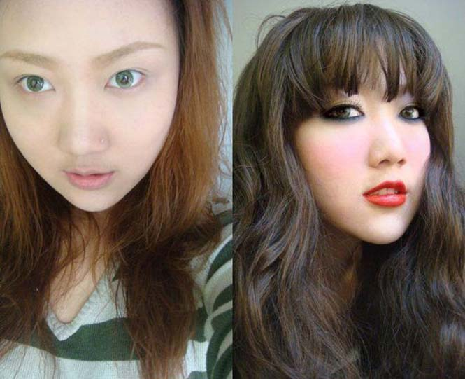 Ασιάτισσες πριν και μετά το μακιγιάζ (2)