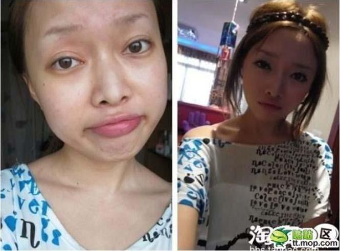 Ασιάτισσες πριν και μετά το μακιγιάζ (7)