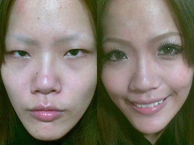 Ασιάτισσες πριν και μετά το μακιγιάζ (9)