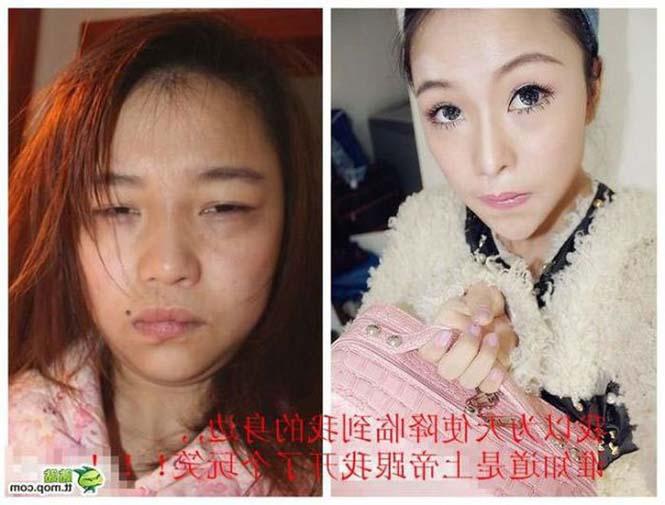Ασιάτισσες πριν και μετά το μακιγιάζ (10)