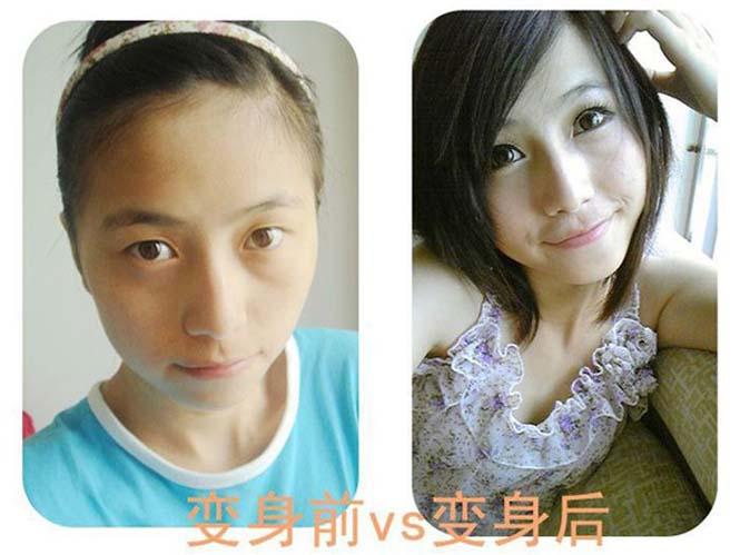 Ασιάτισσες πριν και μετά το μακιγιάζ (17)