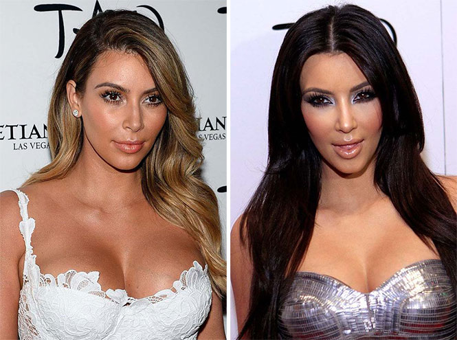 Διάσημες με διαφορετικό μακιγιάζ (1)