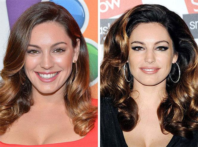 Διάσημες με διαφορετικό μακιγιάζ (7)