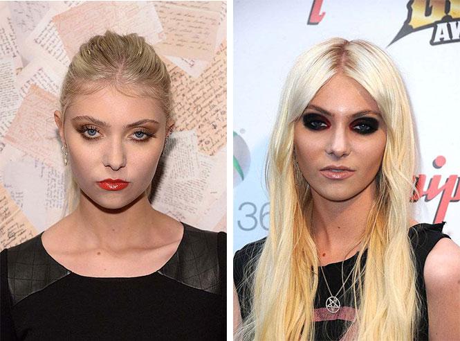Διάσημες με διαφορετικό μακιγιάζ (10)