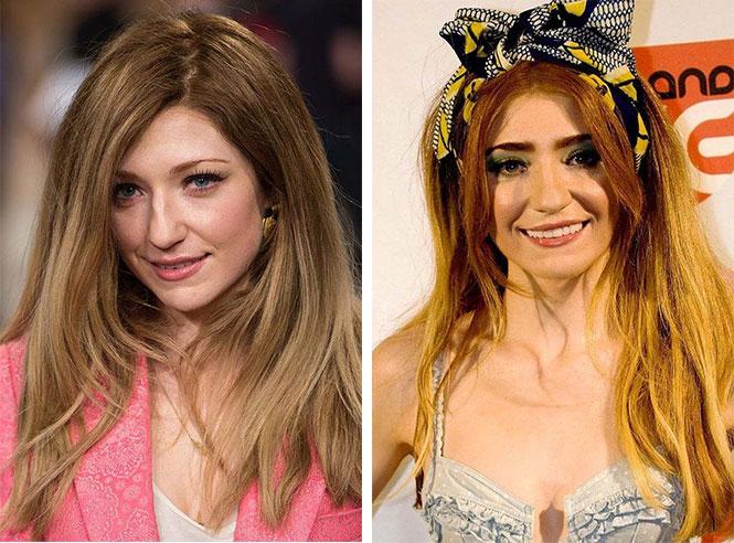 Διάσημες με διαφορετικό μακιγιάζ (11)