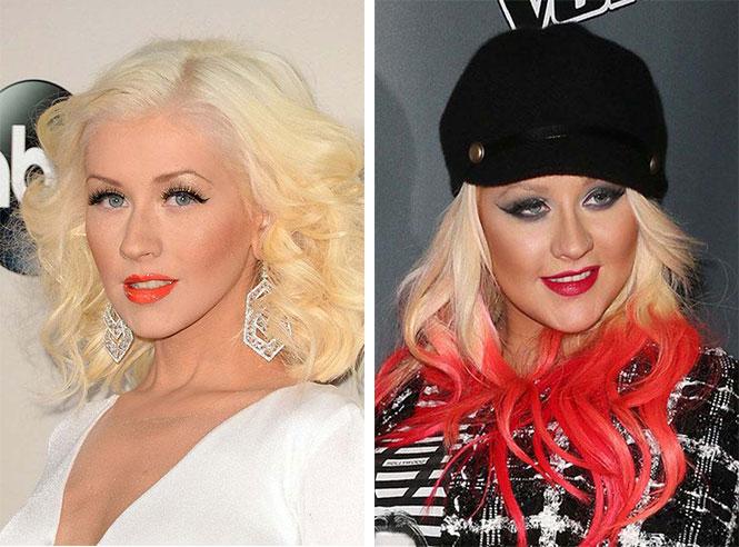 Διάσημες με διαφορετικό μακιγιάζ (12)