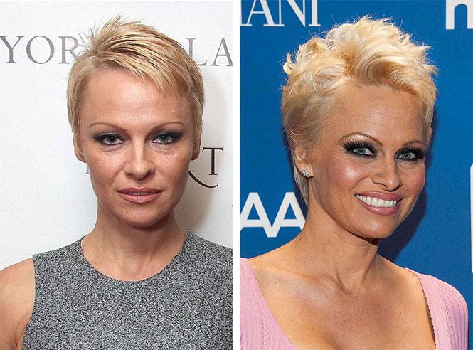 Διάσημες με διαφορετικό μακιγιάζ (13)