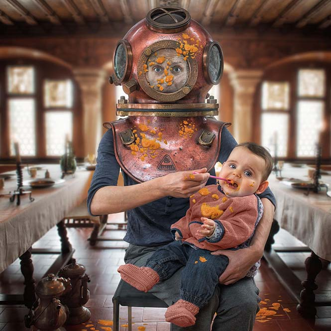 Δημιουργικός μπαμπάς βγάζει θεότρελες φωτογραφίες με τις τρεις κόρες του (7)