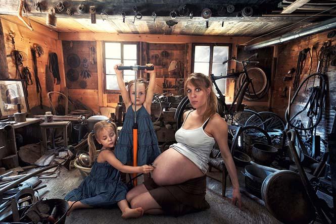 Δημιουργικός μπαμπάς βγάζει θεότρελες φωτογραφίες με τις τρεις κόρες του (14)