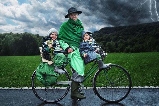Δημιουργικός μπαμπάς βγάζει θεότρελες φωτογραφίες με τις τρεις κόρες του (15)