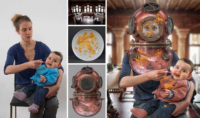 Δημιουργικός μπαμπάς βγάζει θεότρελες φωτογραφίες με τις τρεις κόρες του (21)