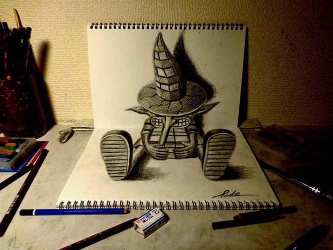 Εκπληκτικά 3D σκίτσα από τον Nagai Hideyuki (1)