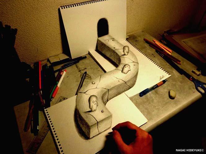 Εκπληκτικά 3D σκίτσα από τον Nagai Hideyuki (8)