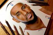 Αυτή η εκπληκτικά ρεαλιστική ζωγραφιά του LeBron James θα σας αφήσει άφωνους