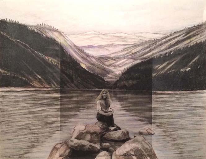 Καλλιτέχνης επεκτείνει φωτογραφίες πέρα από τα πλαίσια τους με χρωματιστά μολύβια (4)