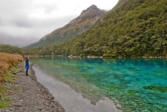 Κρυστάλλινη λίμνη στη Νέα Ζηλανδία (9)