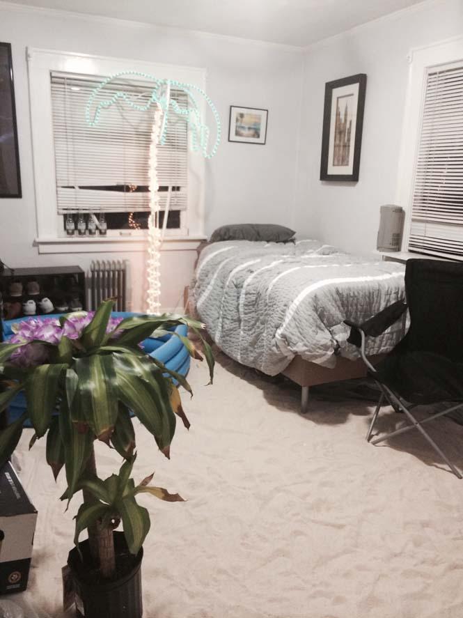 Μετέτρεψαν το δωμάτιο του φίλου τους σε παραλία (6)