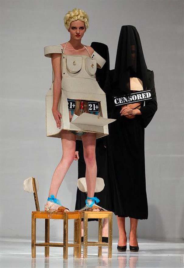 Τα πιο περίεργα πράγματα που έχουν φορεθεί σε μια επίδειξη μόδας (5)