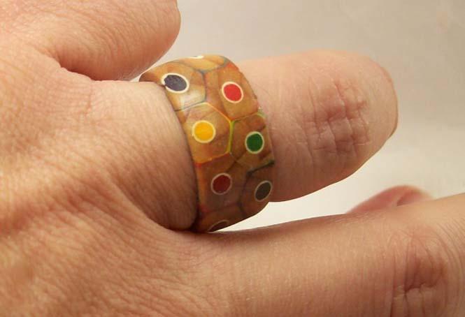 Πρωτότυπο δαχτυλίδι από ξυλομπογιές (12)