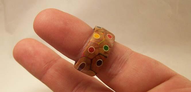 Πρωτότυπο δαχτυλίδι από ξυλομπογιές (14)