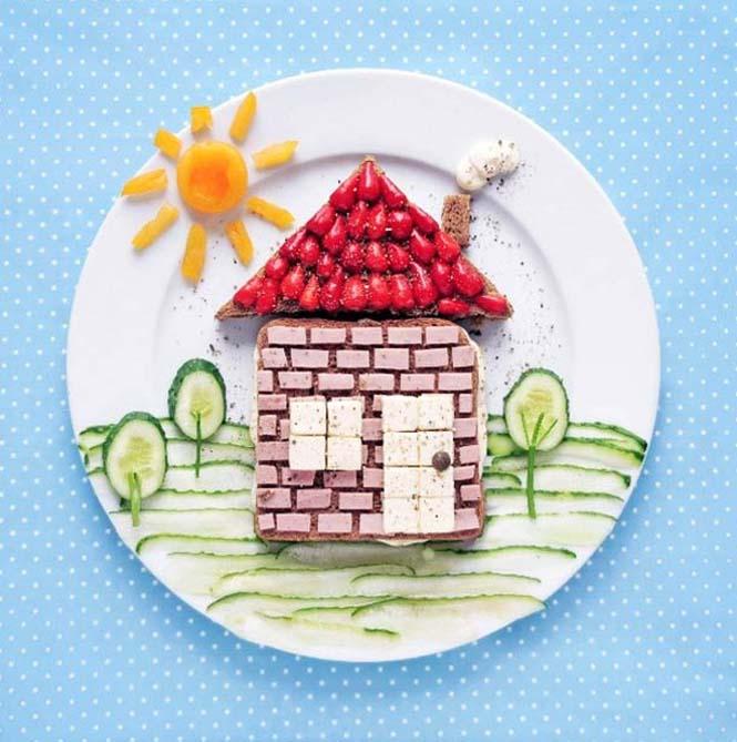 Τέχνη με φαγητό από την Daryna Kossar (8)