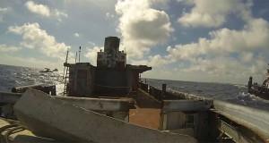 Η βύθιση ενός πλοίου όπως φαίνεται από μέσα (Video)