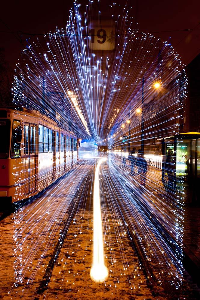 30.000 φωτάκια LED και μακρά έκθεση μετέτρεψαν τα τραμ της Βουδαπέστης σε χρονομηχανές (10)