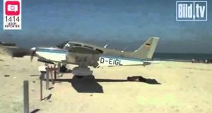 Αεροπλάνο προσγειώνεται σχεδόν πάνω σε άνθρωπο που κάνει ηλιοθεραπεία (Video)