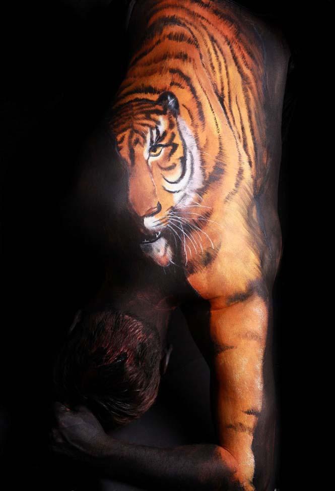 Άνθρωποι μεταμορφώνονται σε ζώα με την τέχνη του body painting (8)