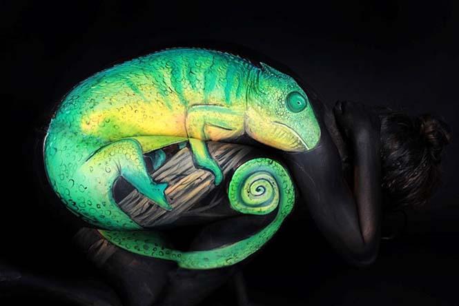 Άνθρωποι μεταμορφώνονται σε ζώα με την τέχνη του body painting (9)