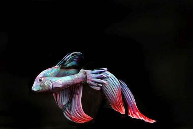 Άνθρωποι μεταμορφώνονται σε ζώα με την τέχνη του body painting (10)