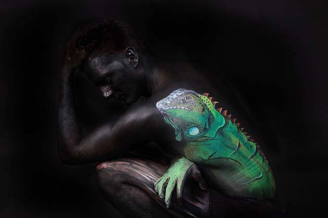 Άνθρωποι μεταμορφώνονται σε ζώα με την τέχνη του body painting (11)
