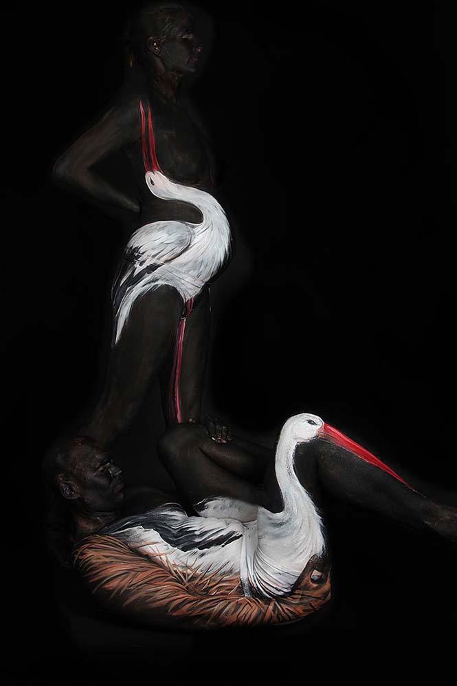 Άνθρωποι μεταμορφώνονται σε ζώα με την τέχνη του body painting (13)