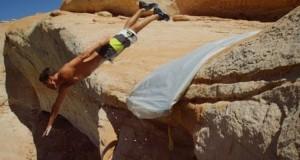 Αυτοσχέδια νεροτσουλήθρα καταλήγει σε γκρεμό ύψους 15 μέτρων (Video)