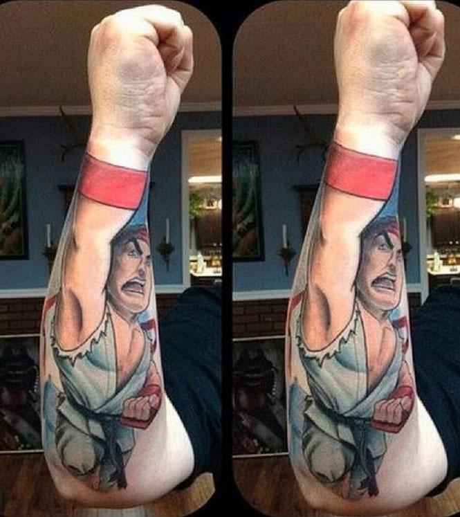 Δημιουργικά τατουάζ που αλληλεπιδρούν με το σώμα! (21)