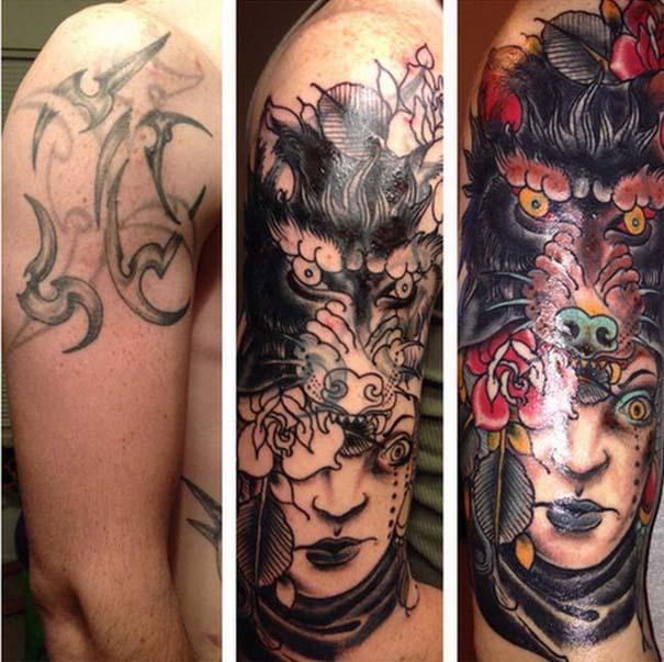 Εντυπωσιακές μετατροπές παλιών τατουάζ (1)